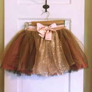 d244bf722a Fox Tail Brown and Pink Mesh Tutu - Junior's 3